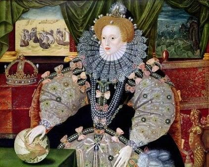 the Armada Portrait of Queen Elizabeth 1st attributed to George Gower