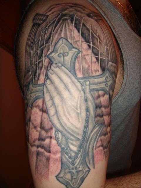 Cross W Gates Of Heaven Tattoo