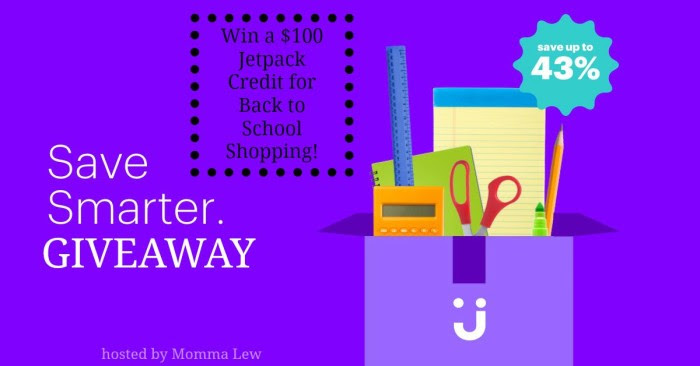 Jet.com $100 Back to School Giveaway