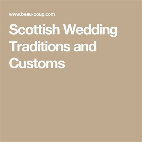 25  best ideas about Scottish wedding traditions on