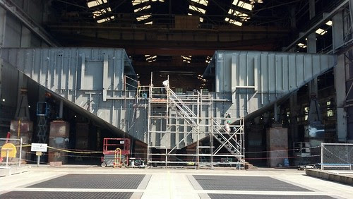 New Olympic class ferry bulkhead construction