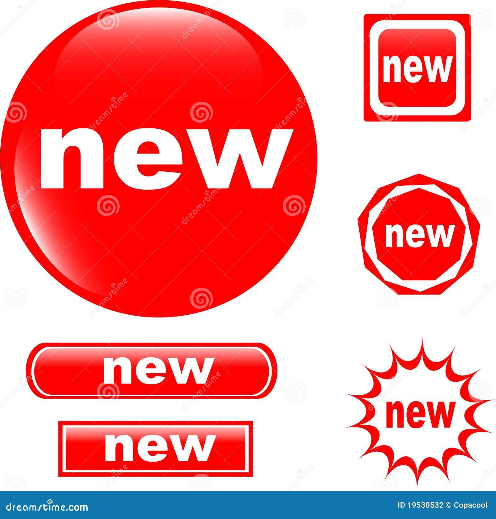 new button web glossy icon 19530532