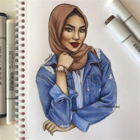 hijab tumblr girl drawing