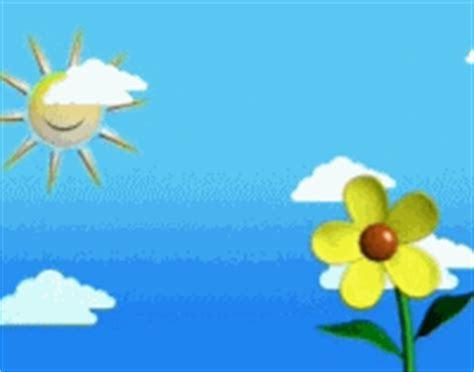 gif lucu animasi gambar matahari awan  bunga
