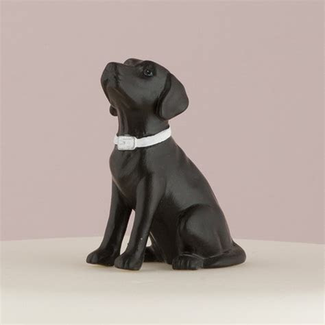 Labrador Dog Figurine Cake Topper   The Knot Shop