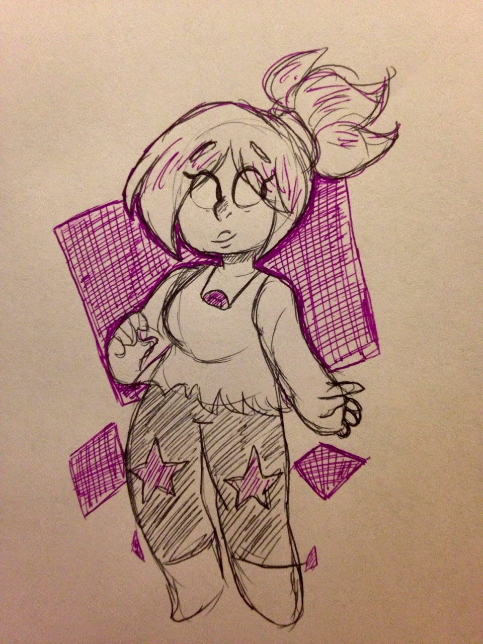 Day 13 of Inktober is Amethyst 💜