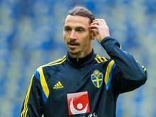 Schweden mit Zlatan Ibrahimovic gegen Österreich