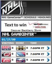 NHL Mobile Game Center