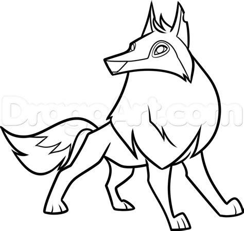 draw  animal jam arctic wolf step  step drawing