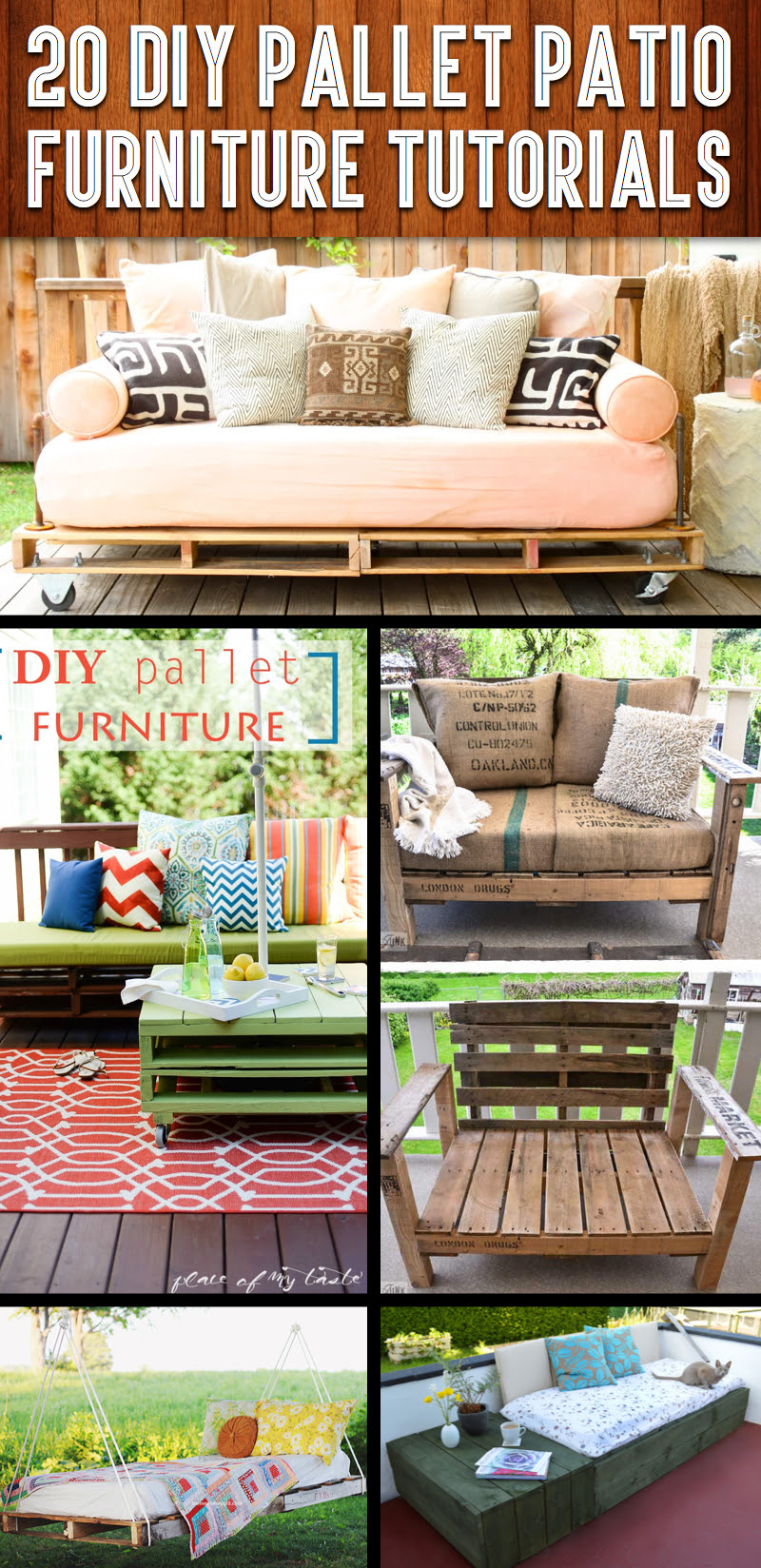 20 DIY Pallet Patio Furniture Tutorials For A Chic And Practical Outdoor Patio cover