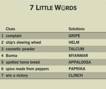 7 Little Words Sunrise Level 31 Answers 7 Little Words Answers