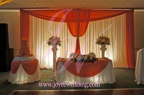 #Reception #decor: #bright #corals   Joyce Wedding Services