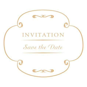 Etiqueta redonda de invitación de boda 2   Descargar PNG