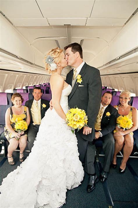 A Modern Wedding on an Aeroplane: Robyn & Tom · Rock n
