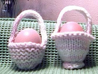 One Egg Easter Basket Knitting Pattern
