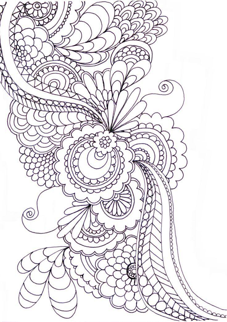 Zentangle Patterns & Ideas. #ZentangleDesign