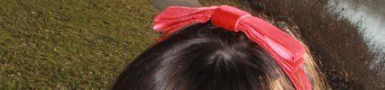 How to make a velvet ribbon hair bow