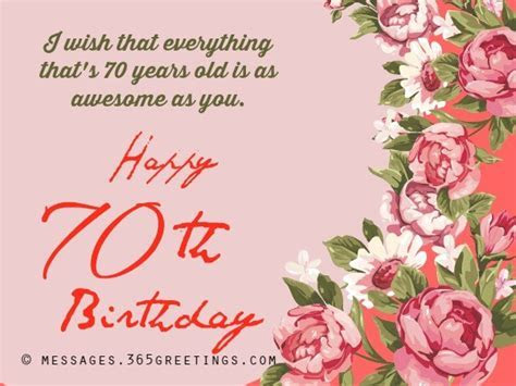 happy 70th birthday messages   Messages, Wordings and Gift