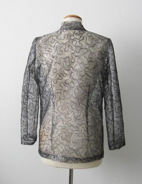 Silk jacket back