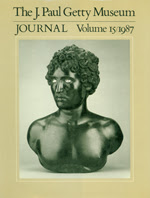 The J. Paul Getty Museum Journal: Volume 15/1987
