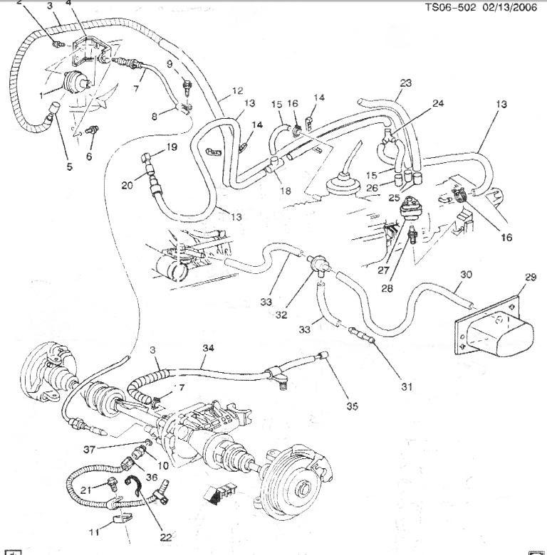 33 2000 Chevy Blazer 4x4 Vacuum Diagram