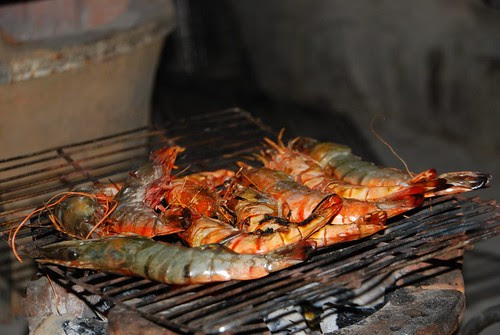 prawns on the coals
