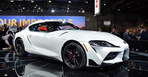 toyota supra sports car revealed   detroit auto