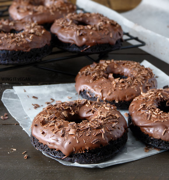 Triple Chocolate Cake Doughnuts