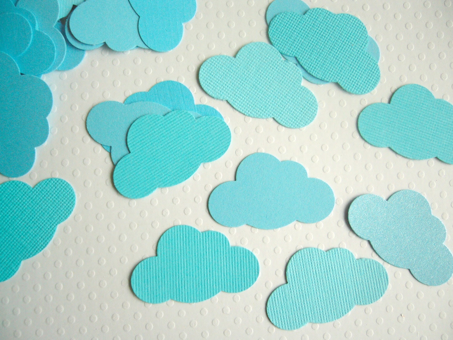Paper Cloud Confetti - Baby Shower Wedding Party decor favor - ddeforest