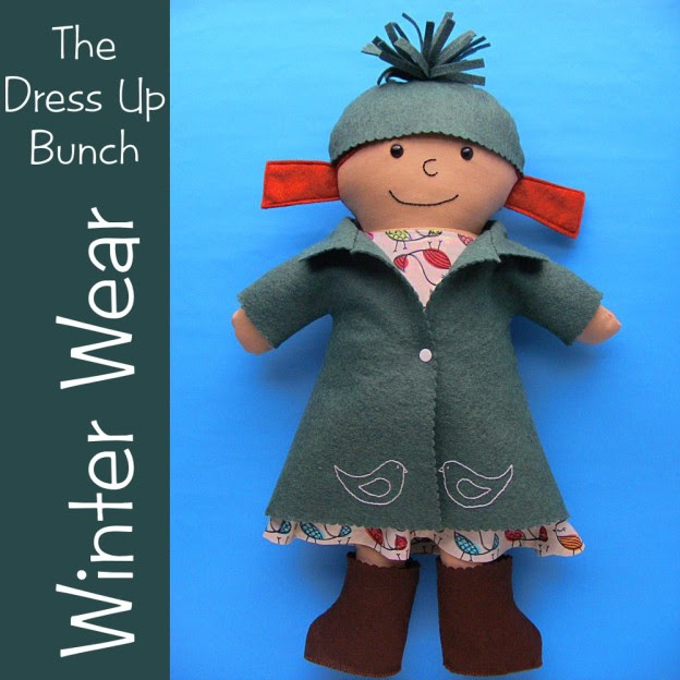 Winter Wear for the Dress Up Bunch rag dolls from Shiny Happy World