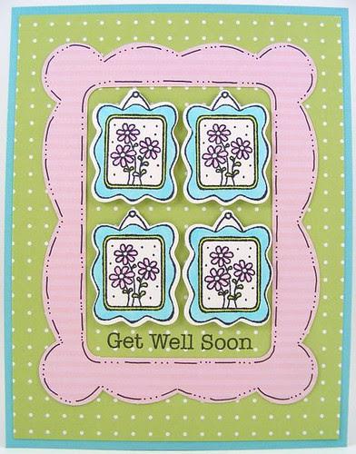 Framed Get Well Card