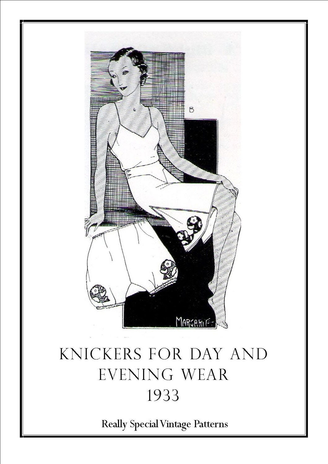 Day and Evening Knickers 1933 French Knickers to your own Measurements Sewing Pattern PDF INSTANT Download