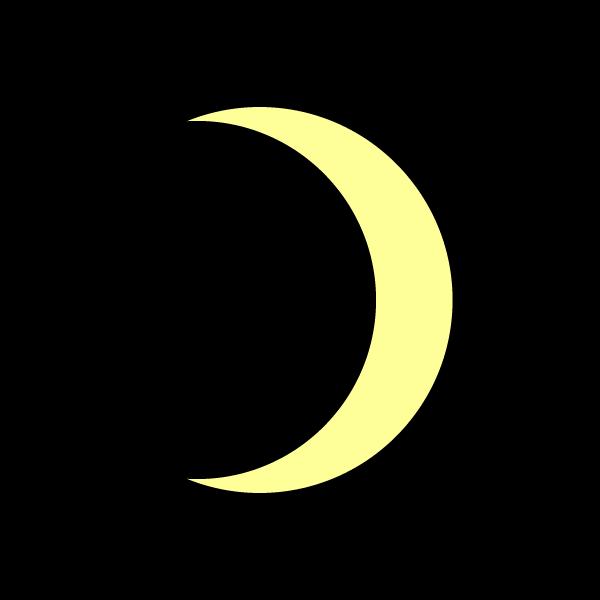 かわいい月の無料イラスト商用フリー オイデ43
