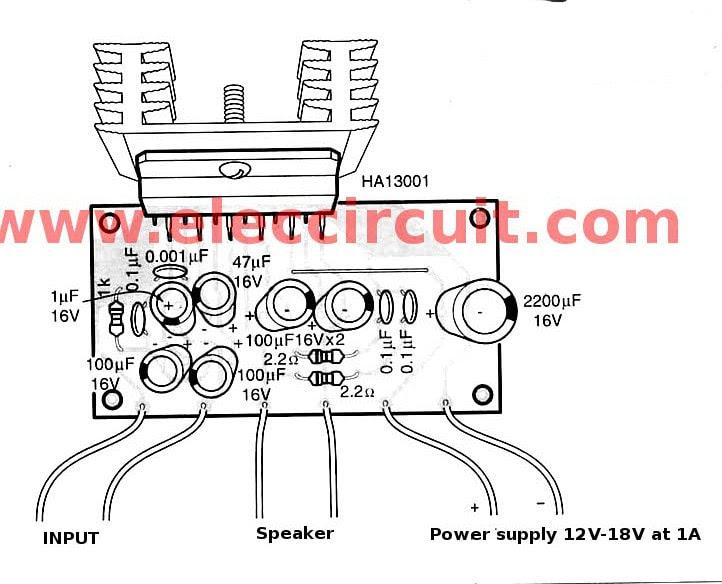 Layout Power Audio 12volt - Circuit Diagram Images