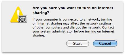 Start similar to  sharing on mac