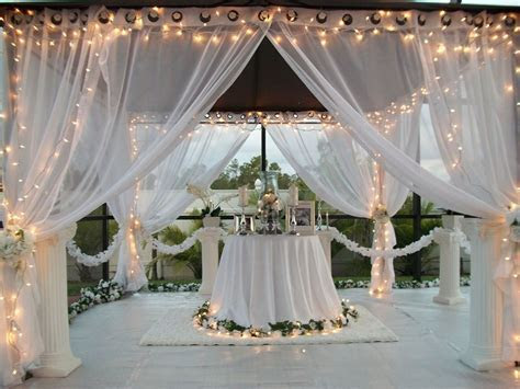 Details about Patio Pizazz Outdoor Gazebo White Wedding