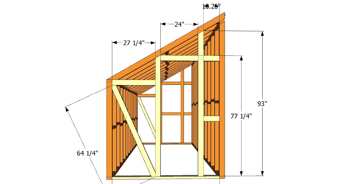 Image Result For Lean To Shed Plans Freea