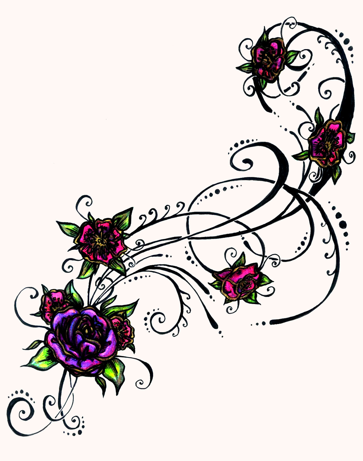 Flower Tribal Drawing At Getdrawingscom Free For Personal Use