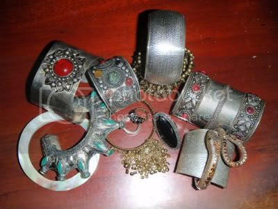 My Collection of Tribal Bellydance Jewelry