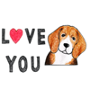 Vu Quoc Hung - Cute Beagle Dog Says Sticker artwork