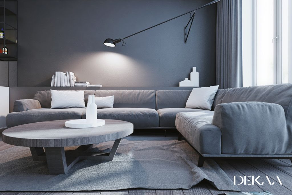 White & Grey Interior Design In The Modern Minimalist Style