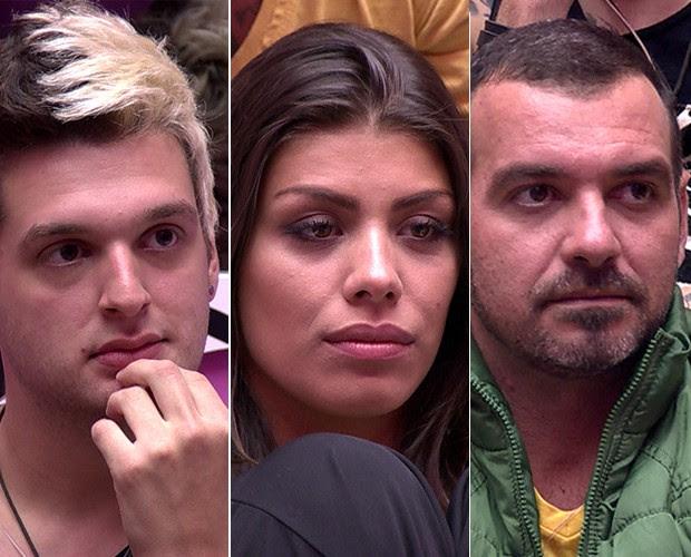 Paredao Cassio Franciele Vagner (Foto: BBB / TV Globo)
