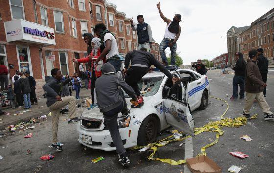 Manifestantes de Baltimore