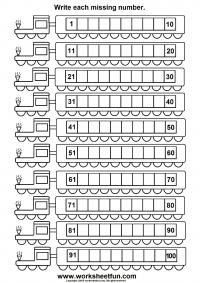 train 100 worksheet 1 200x283
