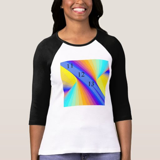 Ladies Fitted Rainbow Storm T-Shirt