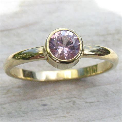 Light Pink Sapphire Ring in 18ct Gold or Platinum
