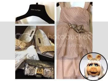 Miss Piggy BAFTAs Louis Vuitton Fashion Style