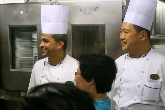 Executive Chef Suresh Balal and one of his chefs Chin Tan from Malaysia!