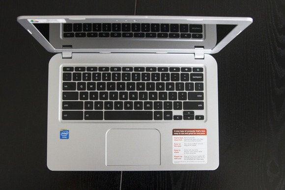 toshiba CB35 A3120 Chromebook fevereiro 2014 top vista aberta