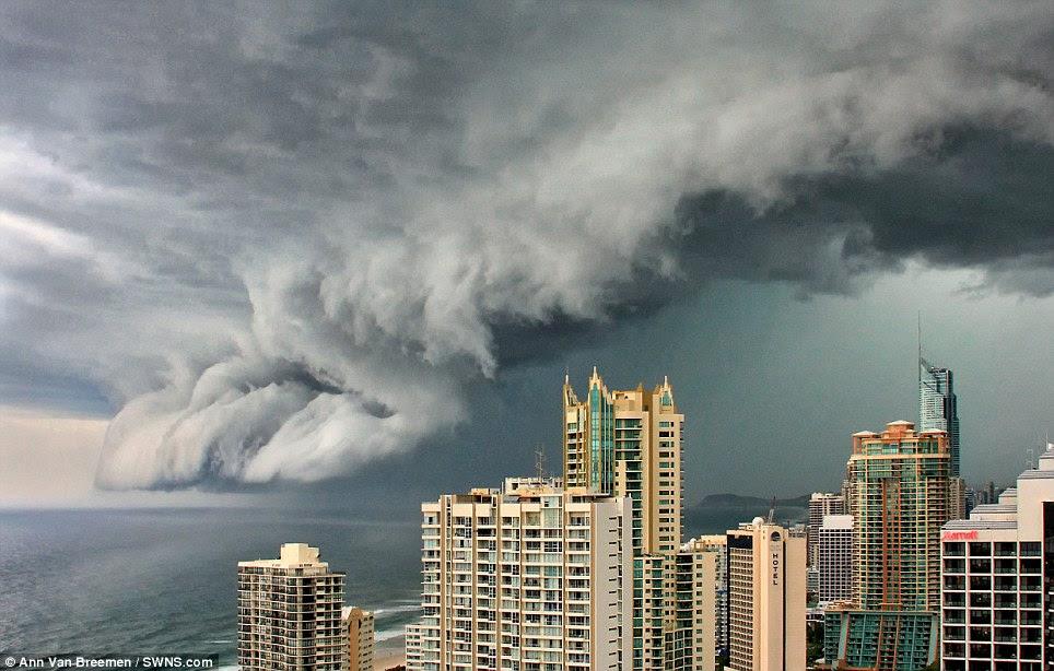 October: A thunderstorm threatens the Gold Coast, Queensland by photographer Ann Van Breemen
